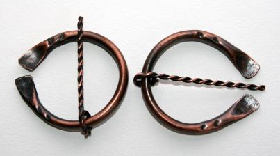 copper penannular brooch
