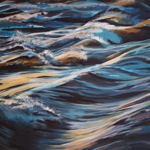 "Commotion in the Ocean © Crystal Pyne 24""x 30"" Acrylic on canvas $600"