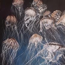 """Compass © Crystal Pyne 30""""x 24"""" Acrylic on canvas $480"""