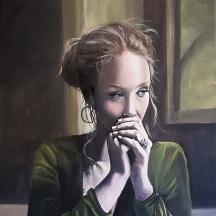 """Faith © Crystal Pyne 20"""" x 16"""" Acrylic on canvas $625"""