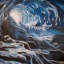 """Path to Paradise © Crystal Pyne 30""""x 24"""" Acrylic on canvas $500"""