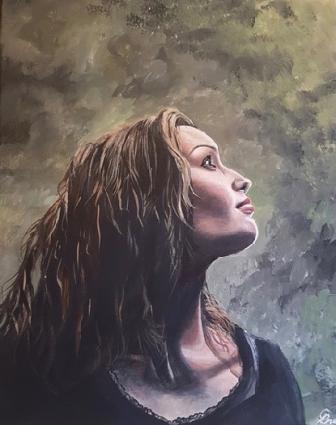 """Hope © Crystal Pyne 20"""" x 16"""" Acrylic on canvas $625"""