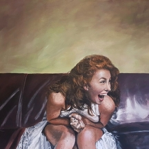 "To Laugh Again © Crystal Pyne 16"" x 20"" Acrylic on canvas SOLD"